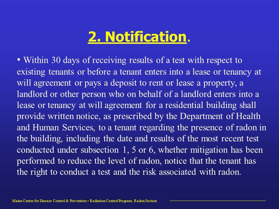 Maine Center for Disease Control & Prevention Radiation Control Program, Radon Section 2.