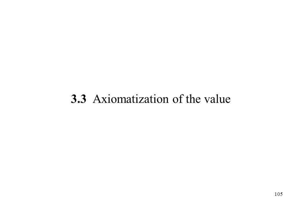 3.3 Axiomatization of the value 105
