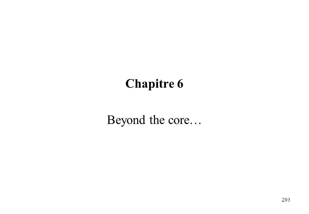 Chapitre 6 Beyond the core… 293