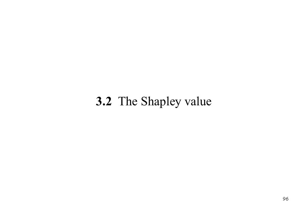 3.2 The Shapley value 96