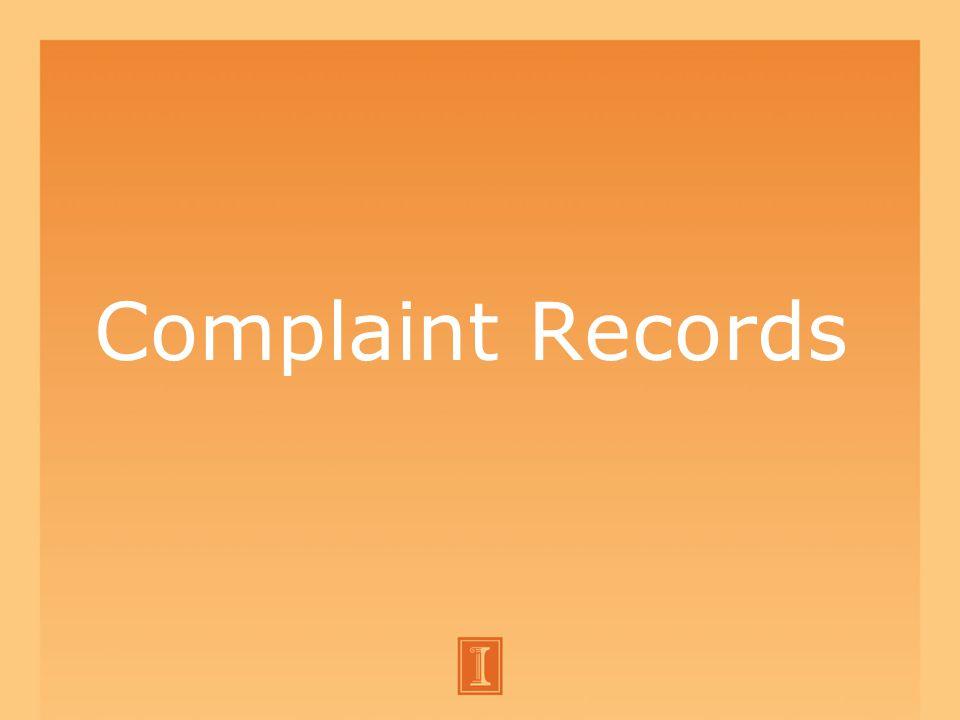 Complaint Records