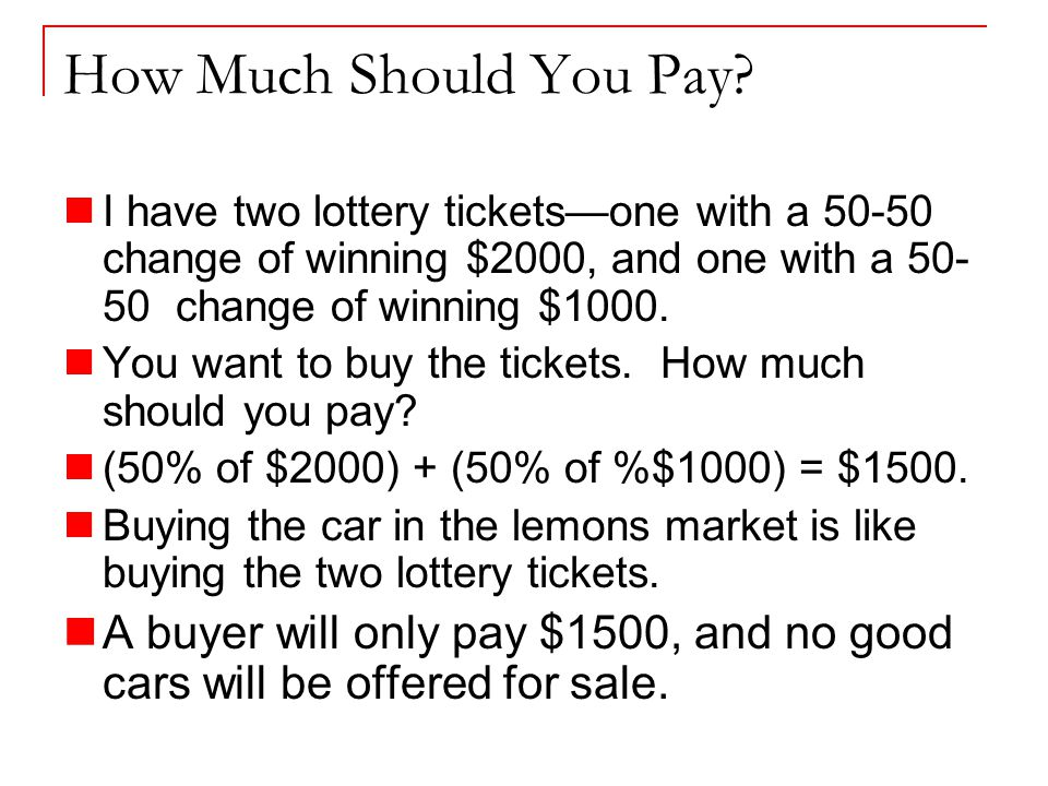 How Much Should You Pay.