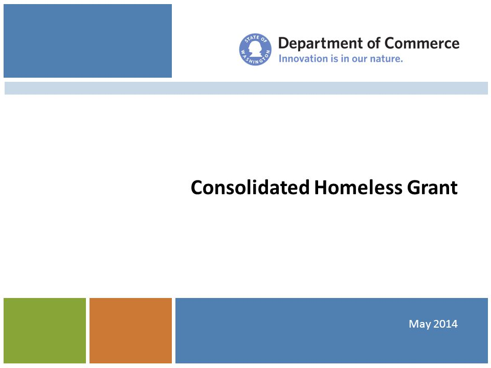 Consolidated Homeless Grant May 2014