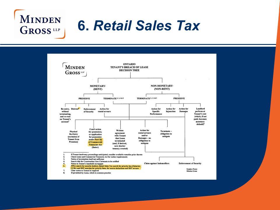 6. Retail Sales Tax