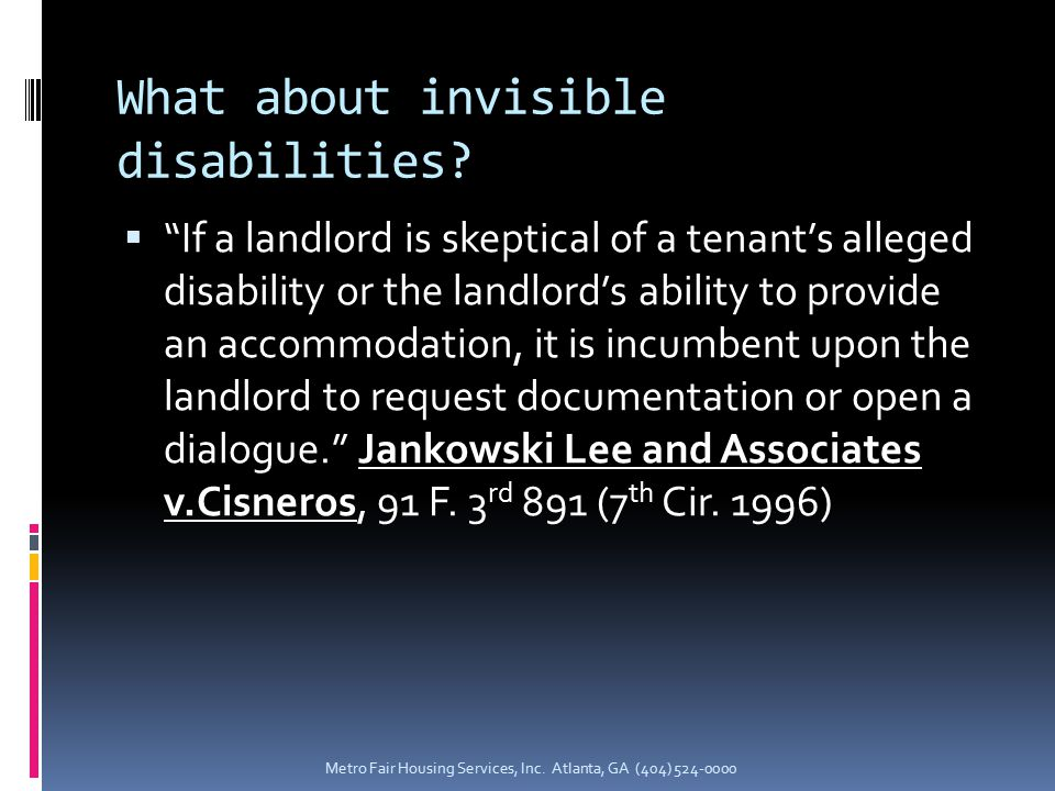 What about invisible disabilities.