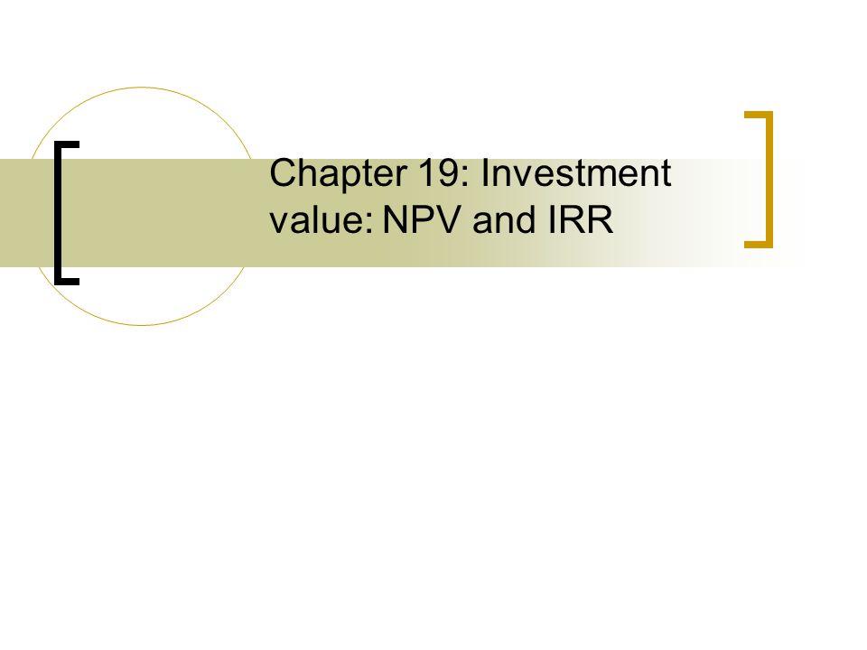 Outline DCF framework Discounting NOI