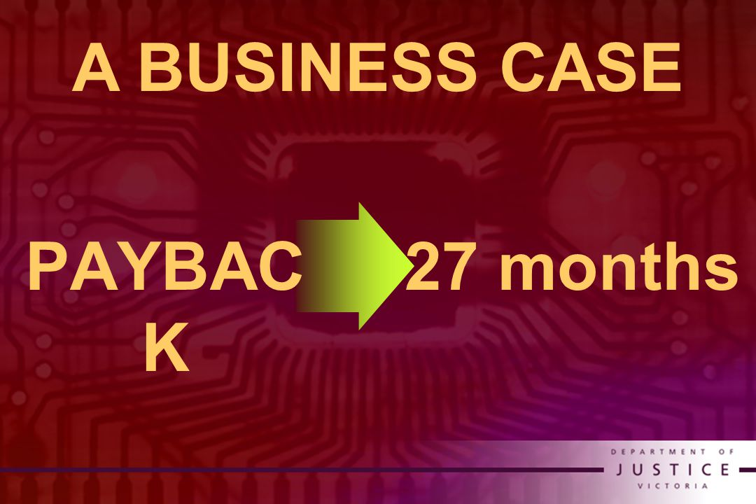 27 months PAYBAC K A BUSINESS CASE
