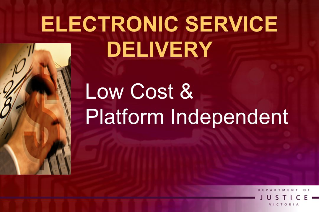 ELECTRONIC SERVICE DELIVERY Low Cost & Platform Independent