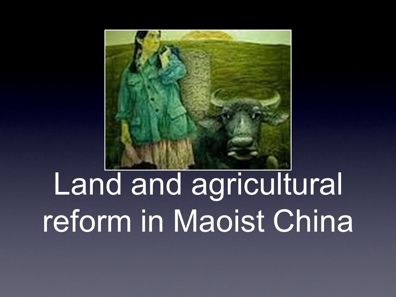 Early stages In the early days (1930s) of the communist party, they actively sought to redistribute land In Yan an province, many warlords and richer peasants were forced to give up control.