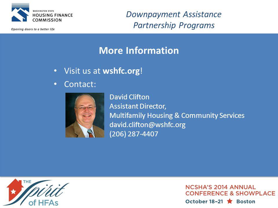 More Information Visit us at wshfc.org.