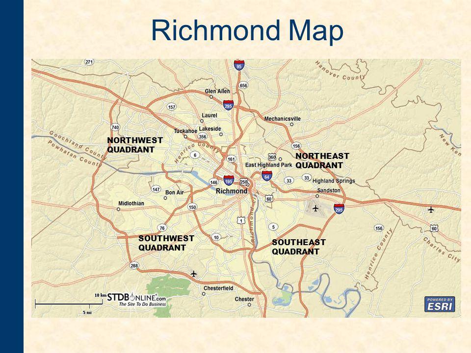 Richmond Map SOUTHWEST QUADRANT SOUTHEAST QUADRANT NORTHEAST QUADRANT NORTHWEST QUADRANT