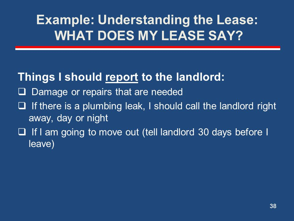 Helping Your Tenants Meet Landlord Expectations (cont.) HOME VISITS: Use drop-in visits to look for red flags (if a landlord suddenly evicts your participant, you haven't been paying attention) Home visits are also a good time for in vivo teaching about noise levels, garbage removal, basic housekeeping—the soft skills of renting.