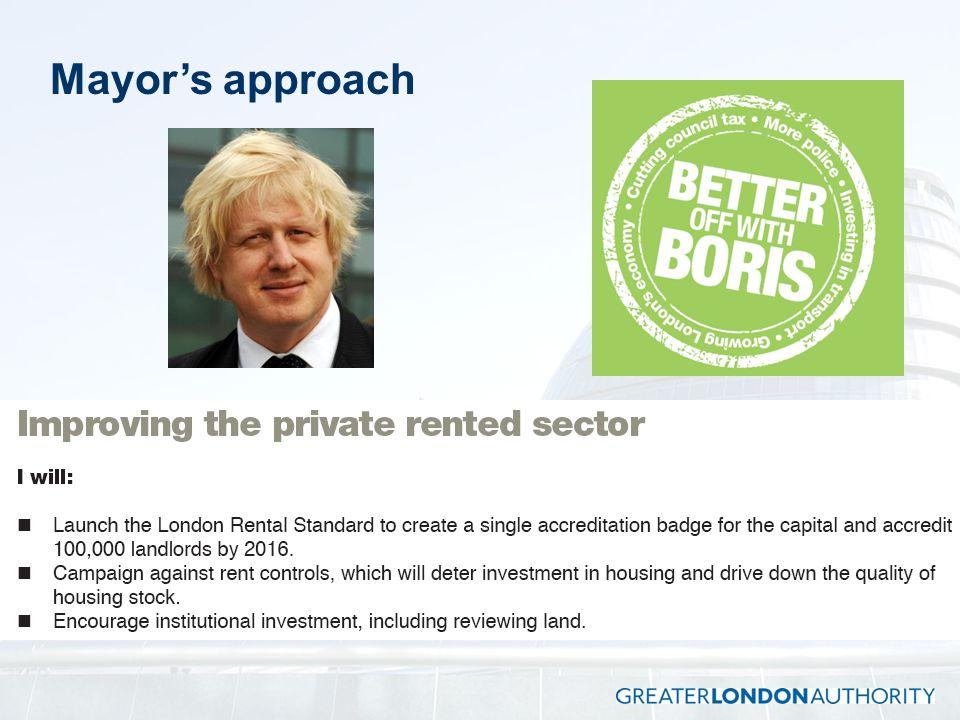 Mayor's approach