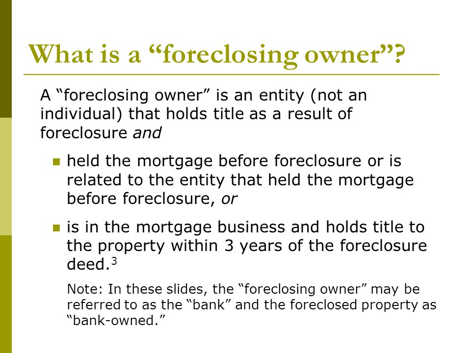 9 Which tenants in foreclosed properties are protected by the new law.