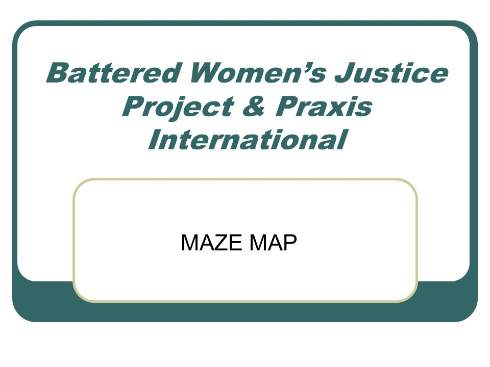 Battered Women's Justice Project & Praxis International MAZE MAP