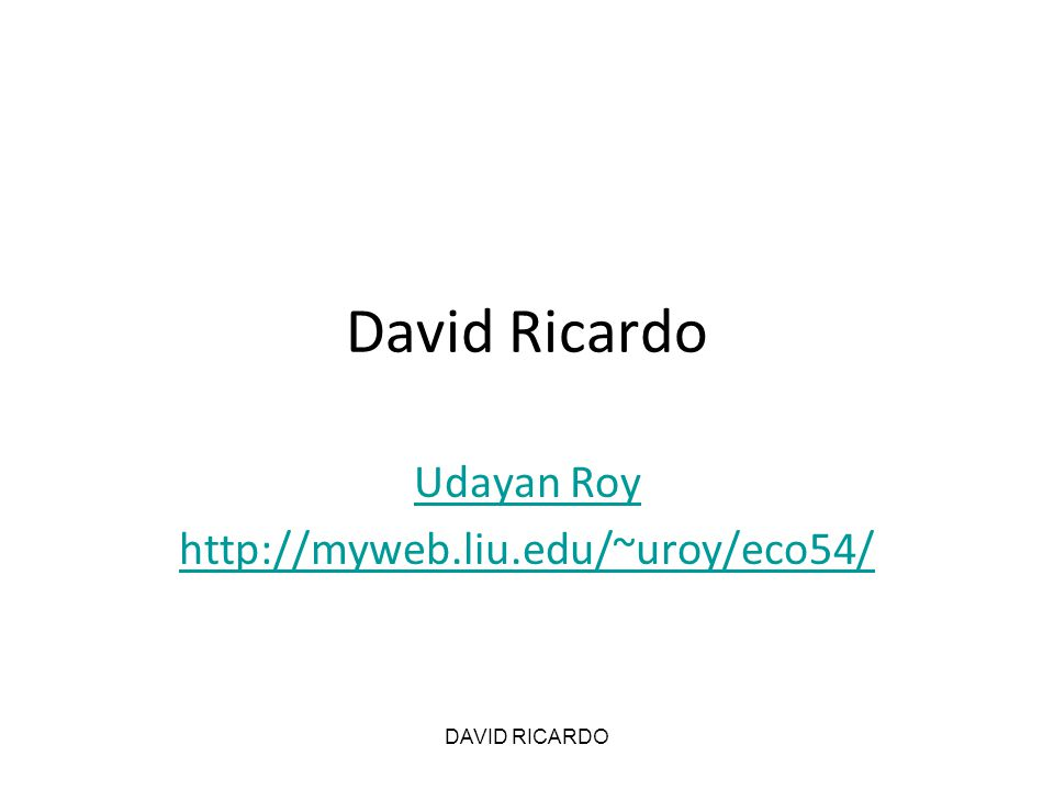 DAVID RICARDO Summary of all 3 cases Table 21 worker3 workers6 workers Output, total100280520 Output, per worker10093.3386.67 Rent, total10 (10%)40 (14.3%)100 (19.23%) Rent, extensive margin103060 Rent, intensive margin01040 Wages, total25 (25%)75 (26%)150 (28.85%) Wages, per worker25 Profit, total65 (65%)165 (58.9%)270 (52%) Profit, per shovel655545 Note: Amounts as a percentage of total output are in parenthesis.