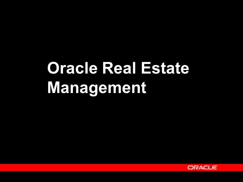 Facilities Management Solution  Enterprise Asset Management – Self-Service Work Request – Extension of eAM  Customer Relationship Management – Oracle iSupport – Oracle TeleService – Oracle Field Service