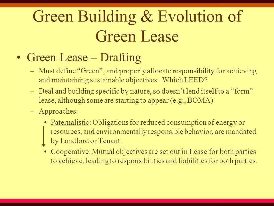 Salient Green Leasing Issues –Benefit Allocation White Tags & Carbon Offset Credits Energy Savings Tax Rebates Reduced Insurance and Financing Costs