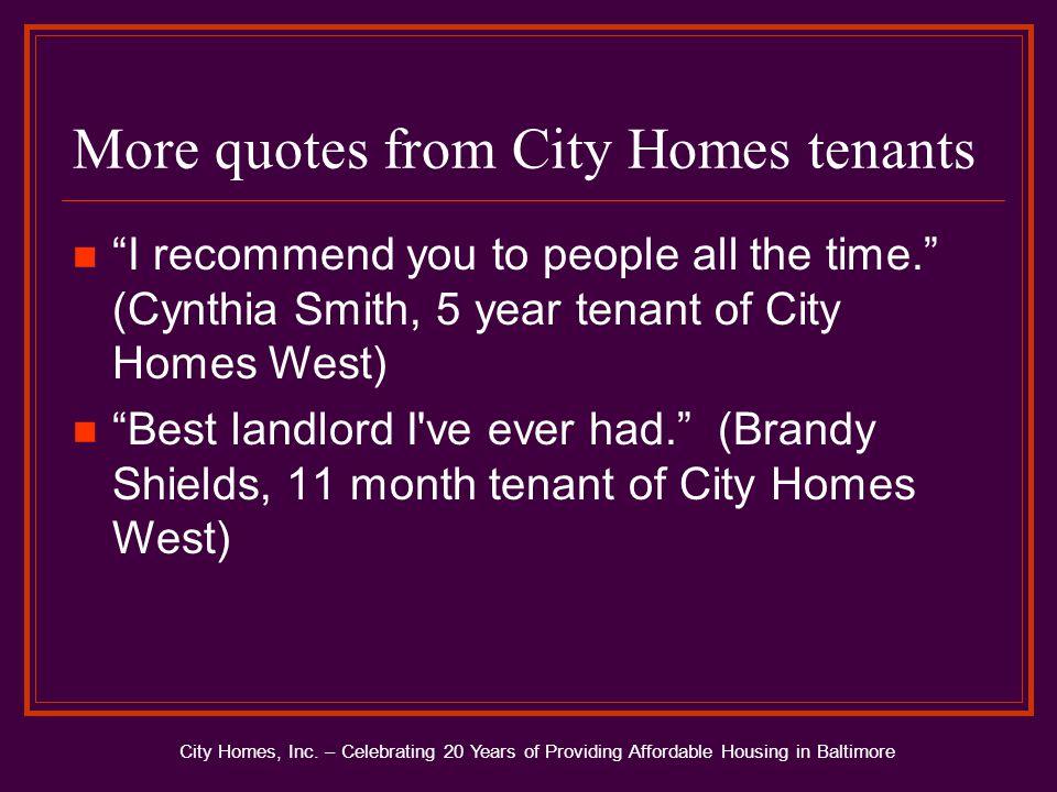City Homes, Inc.
