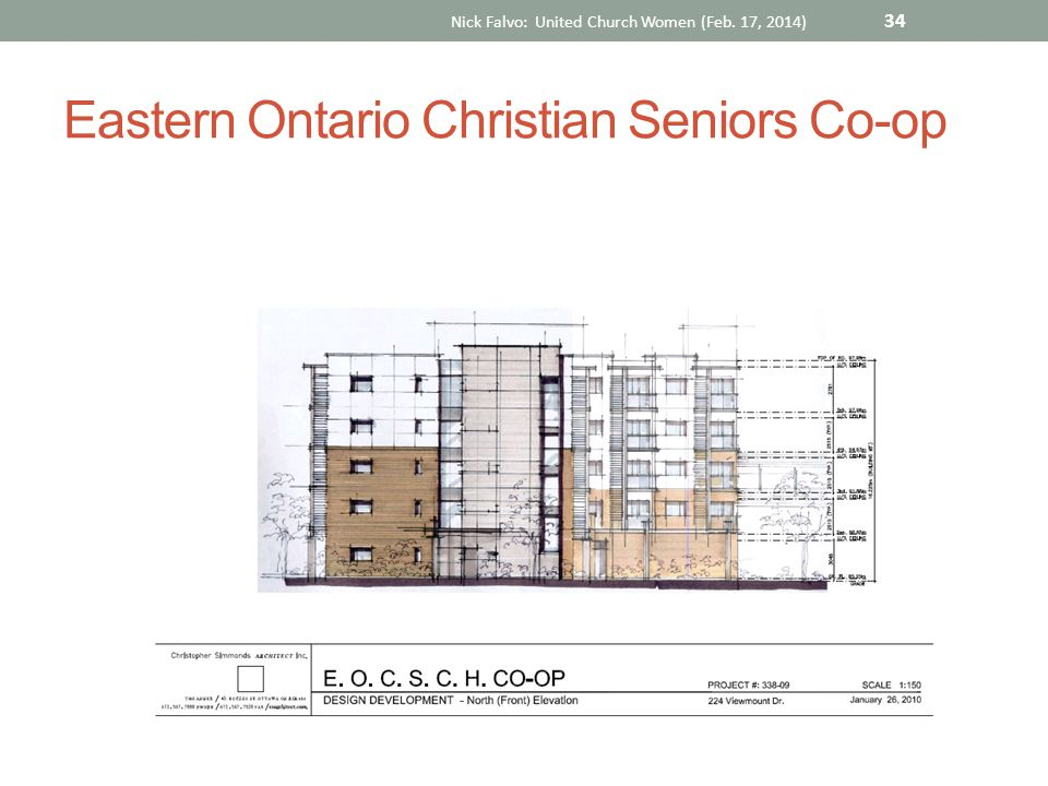 Eastern Ontario Christian Seniors Co-op Nick Falvo: United Church Women (Feb. 17, 2014) 34