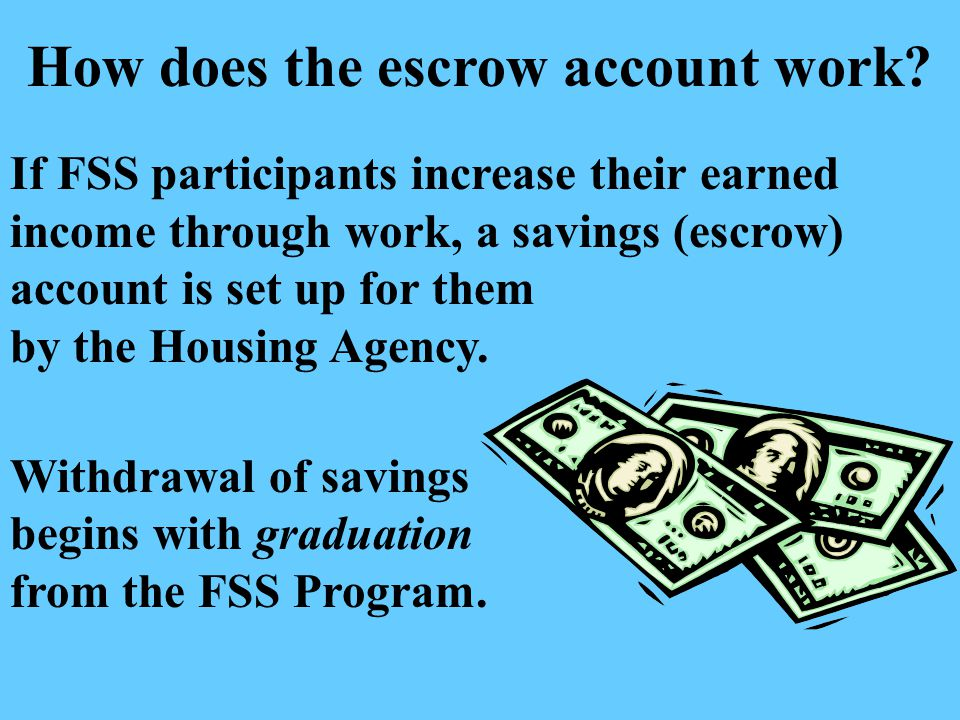 How does the escrow account work.