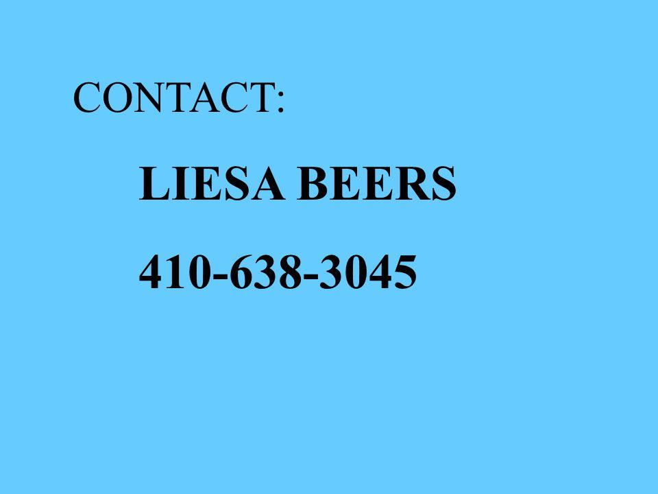 CONTACT: LIESA BEERS 410-638-3045