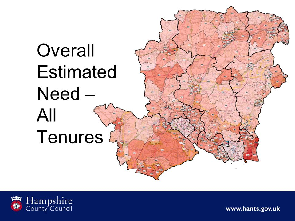 Overall Estimated Need – All Tenures