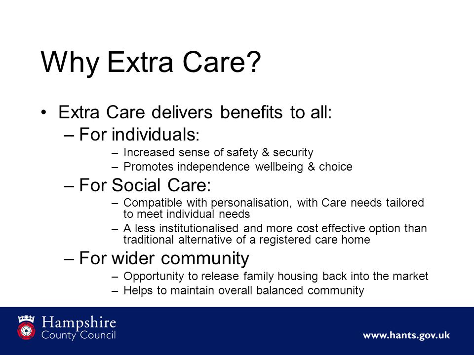 Why Extra Care.