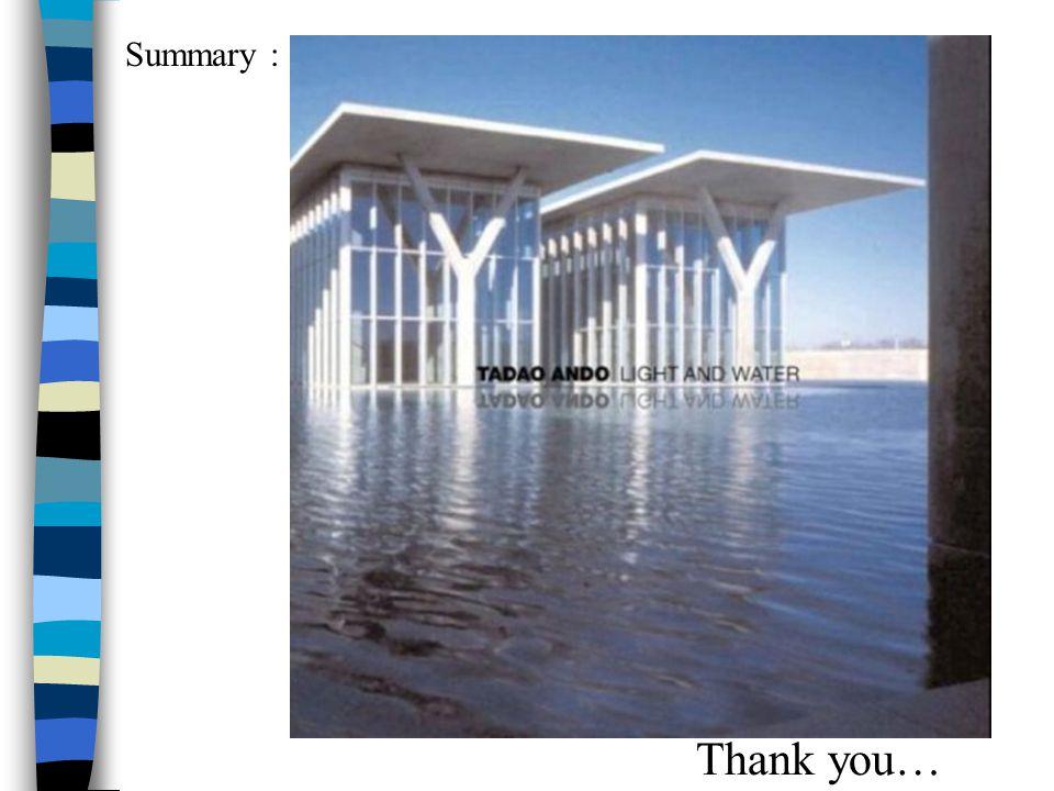 Summary : Thank you…