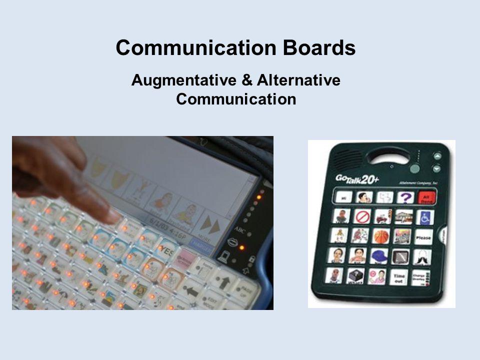 Communication Boards Augmentative & Alternative Communication