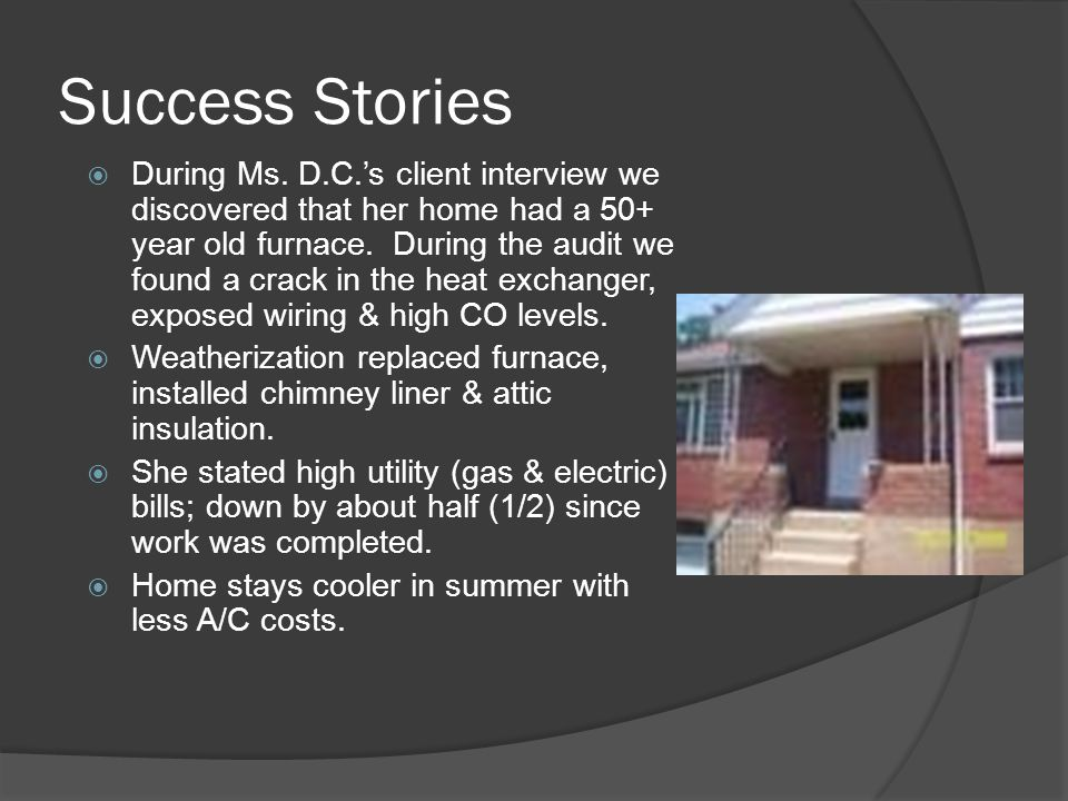 Success Stories  During Ms.