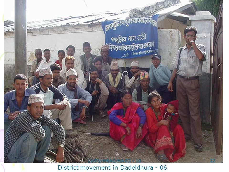 District movement in Dadeldhura - 06 32 LWFN/HRAC/HA 03 - 10