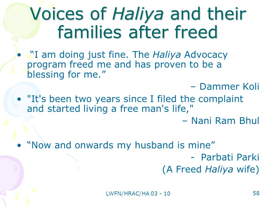 Voices of Haliya and their families after freed I am doing just fine.