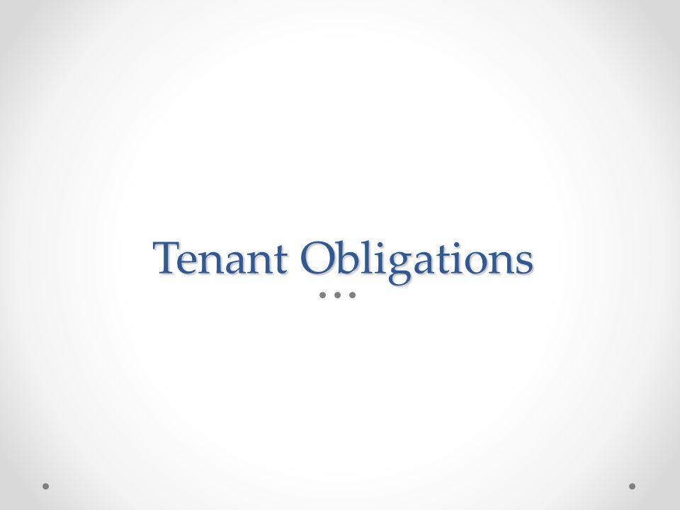 Tenant Obligations