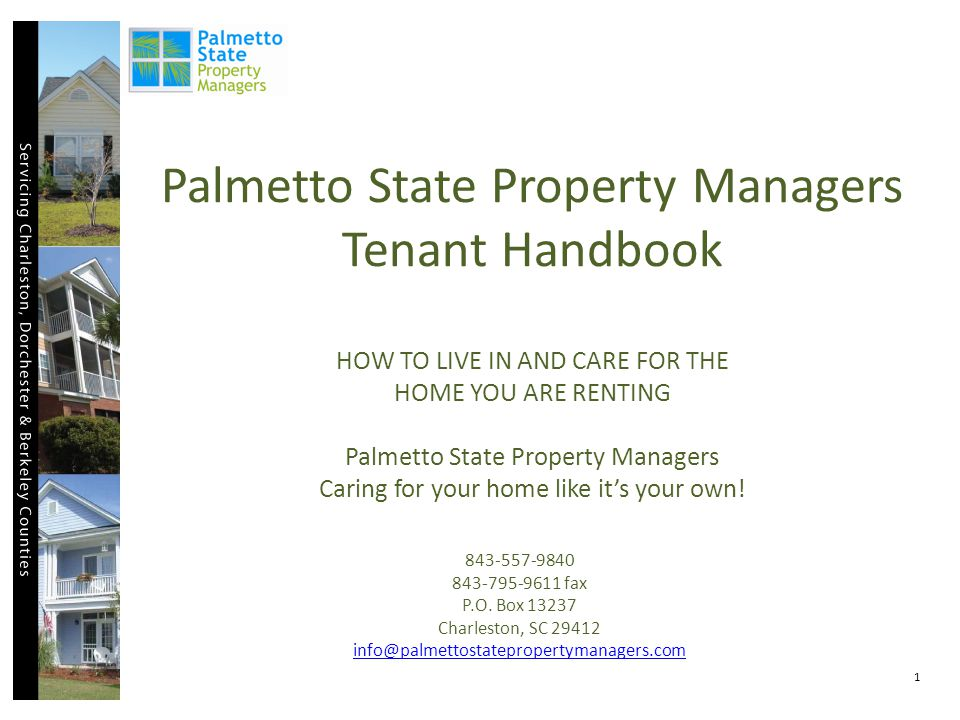 APPENDIX D: WORK OWNER REQUEST FORM, Palmetto State Property Managers You may submit a work order in this format or by going to www.palmettostatepropertymanagers.comwww.palmettostatepropertymanagers.com and complete a Maintenance Request Form.