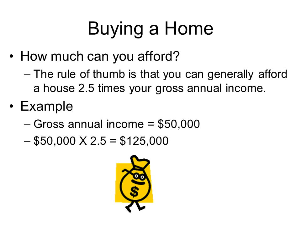 Buying a Home How much can you afford.