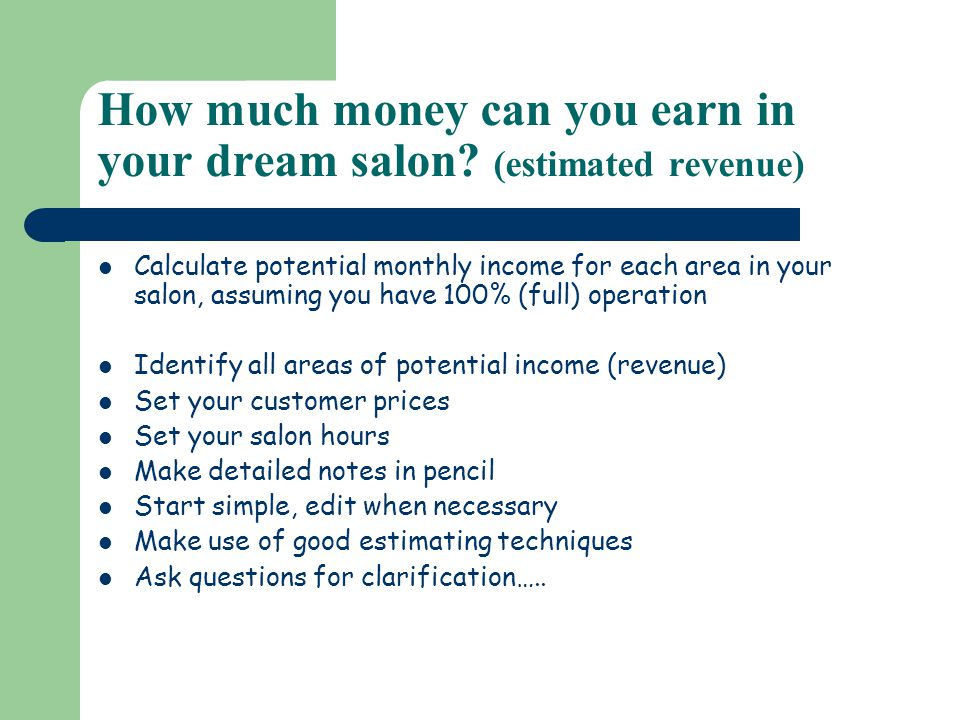 Set operating hours for your salon What days of the week are you open and what are your hours of operation.