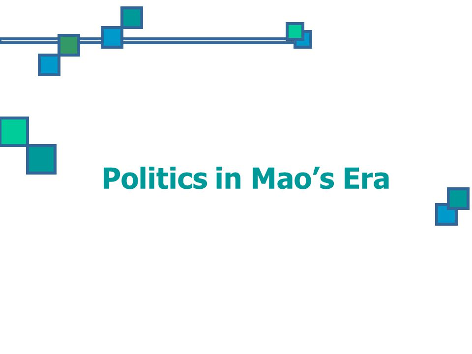 Politics in Mao's Era