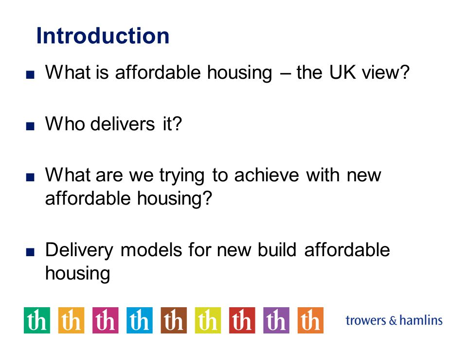 What is Affordable Housing.