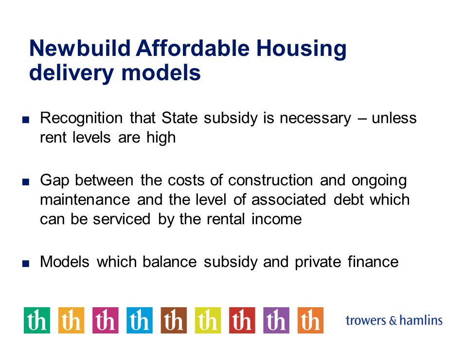 Housing PPP Payment flows when housing is operational: Government Occupants Funder Project Company Shareholders Subcontractor providing maintenance and management Payments for operation of housing subject to performance criteria Repayment of finance Equity Return Contract payments Landlord Project Company