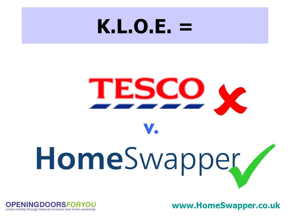 K.L.O.E. = v.  www.HomeSwapper.co.uk