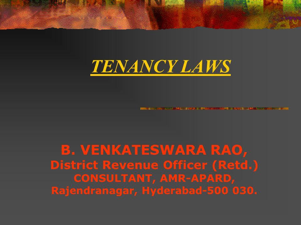 TENANCY LAWS B.