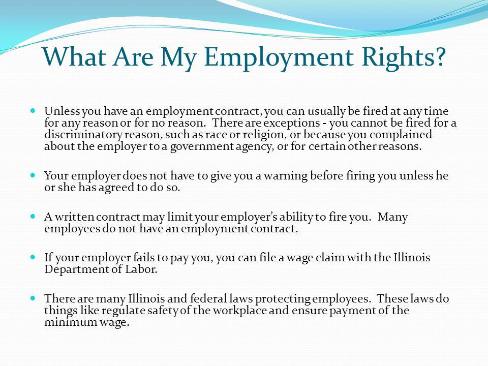 What Are My Employment Rights.