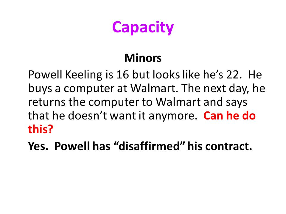 Capacity Minors Powell Keeling is 16 but looks like he's 22.