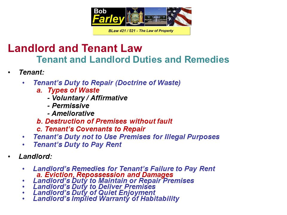 Landlord and Tenant Law Leases Lease Defined: A lease is a contract containing the promises (called covenants) of the parties with respect to the leased premises.