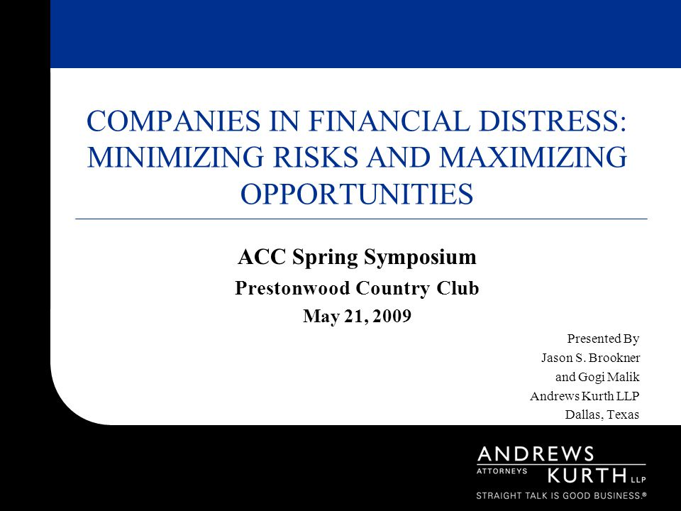 ACC Spring Symposium Prestonwood Country Club May 21, 2009 Presented By Jason S.