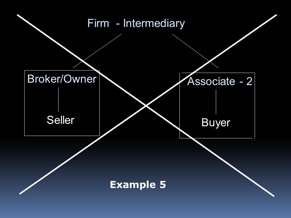 Firm - Intermediary Broker/Owner Associate - 2 Seller Buyer Example 5