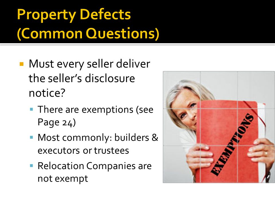  Must every seller deliver the seller's disclosure notice.