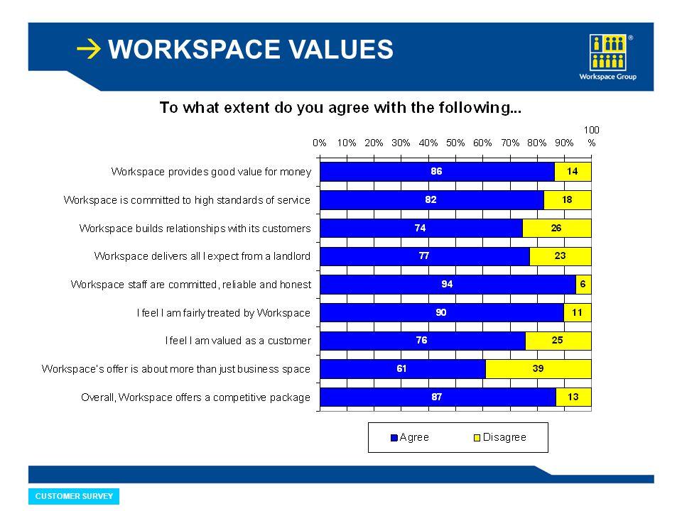 WORKSPACE VALUES CUSTOMER SURVEY