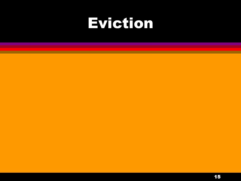15 Eviction